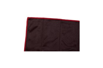 Microfiber 330g/y 20x20cm cloth black & sewn red