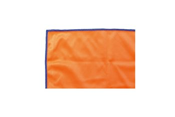 Microfiber 330g/y 20x20cm cloth orange & sewn blue
