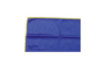 Microfiber 330g/y 20x20cm cloth blue & sewn yellow