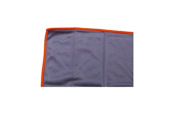 Microfiber 330g/y 20x20cm cloth grey & sewn orange